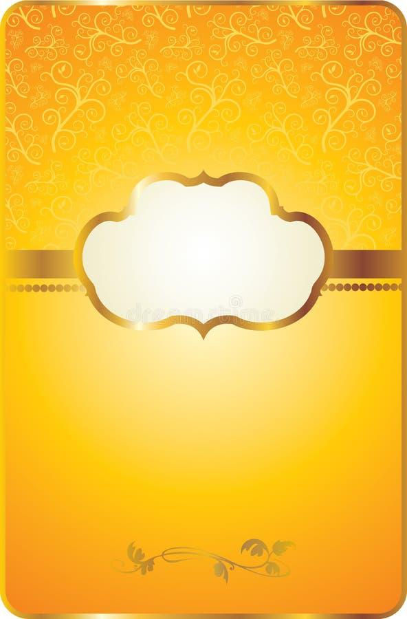 karciany emblemata złota rocznik royalty ilustracja