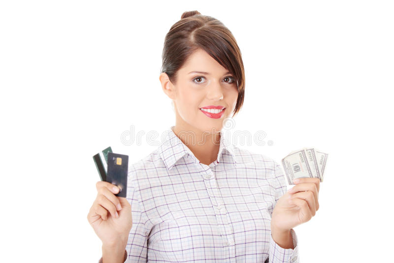 karciany gotówkowy kredyt fotografia royalty free