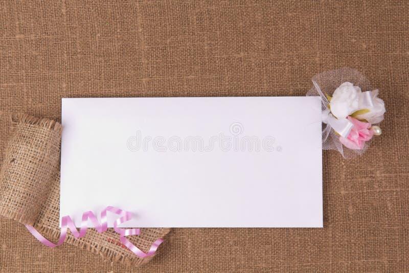 karciany gratulacyjny biel zdjęcie stock