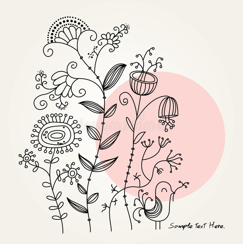 Download Karciany greting ilustracja wektor. Ilustracja złożonej z kwiat - 15441142
