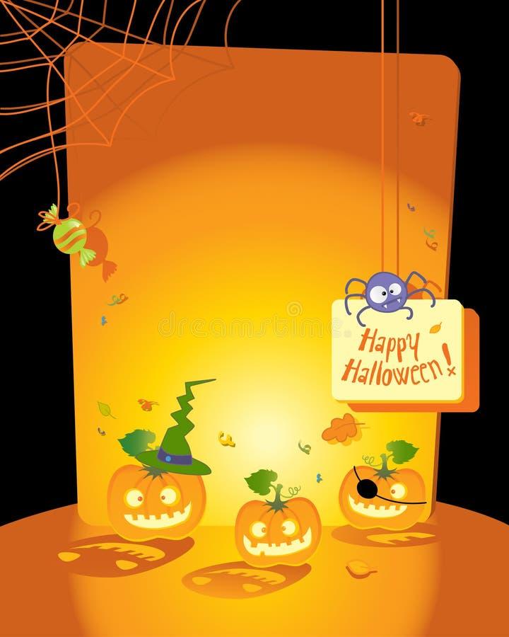 karciany Halloween ilustracja wektor
