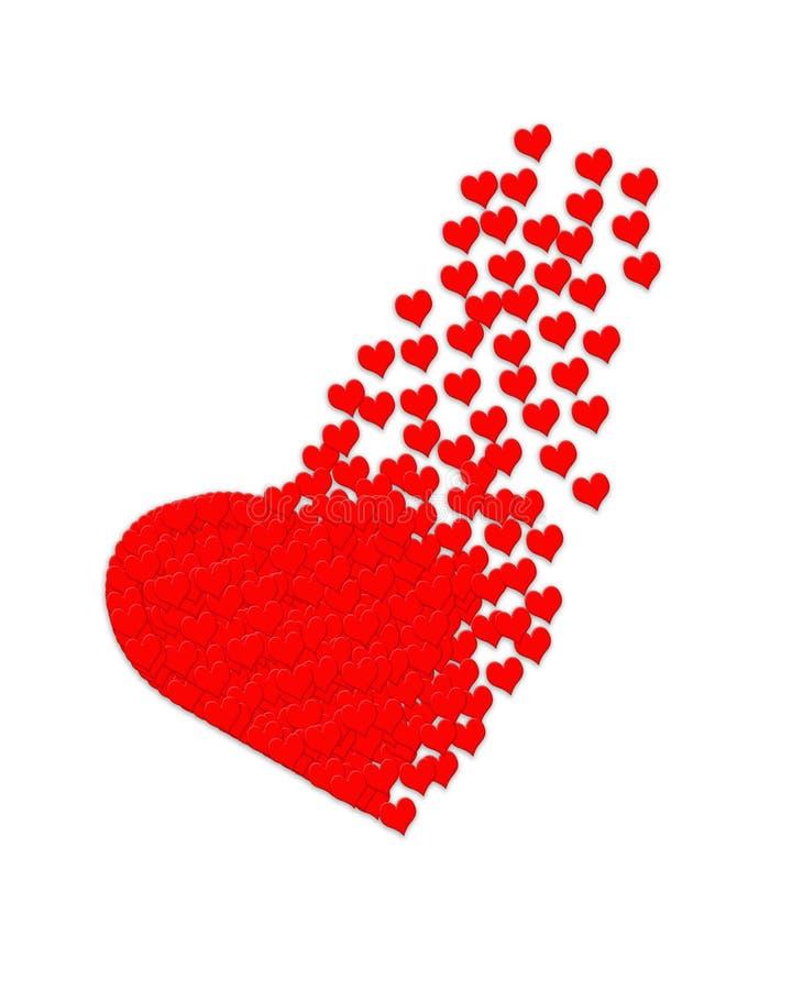 karciany ilustracyjny valentine ilustracji