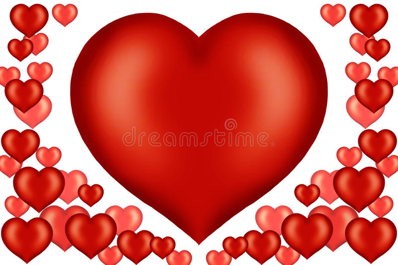 karciany ilustracyjny valentine royalty ilustracja