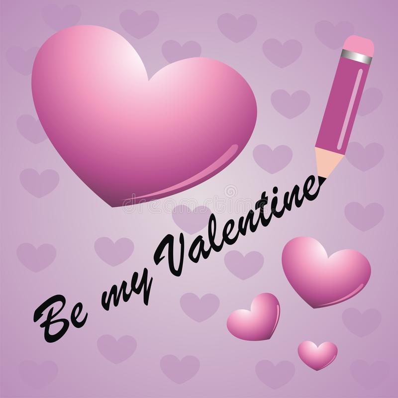 karciany jest mój valentine ilustracji