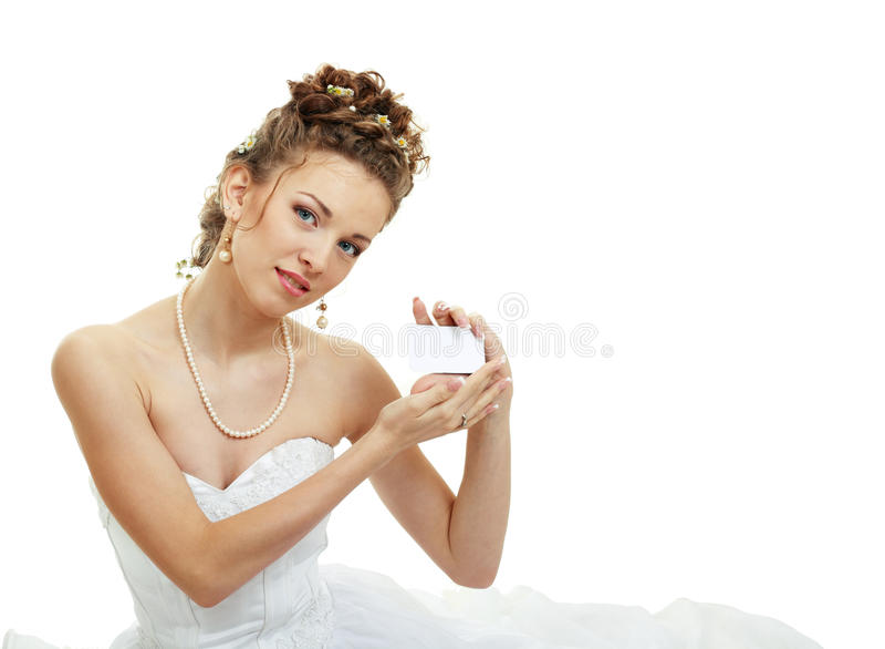 karciany karciani panna młoda chwyty zdjęcie royalty free