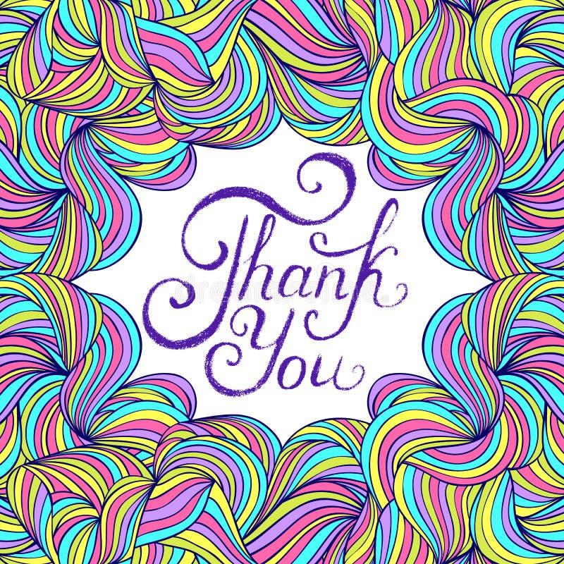 karciany kolorowy dziękować ty royalty ilustracja