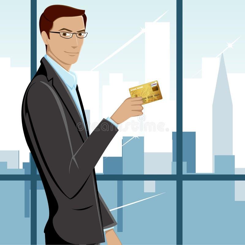 karciany kredytowego mężczyzna seans ilustracji