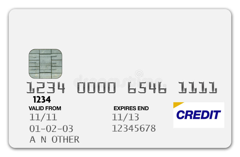 karciany kredytowy biel zdjęcia royalty free