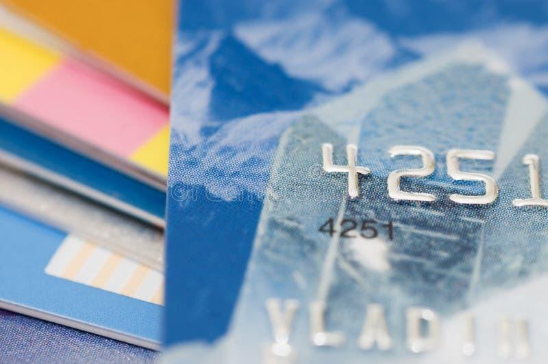 karciany kredytowy makro- krótkopęd fotografia stock