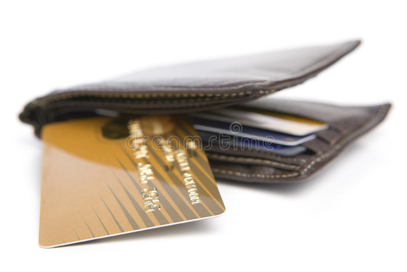 karciany kredytowy portfel fotografia royalty free