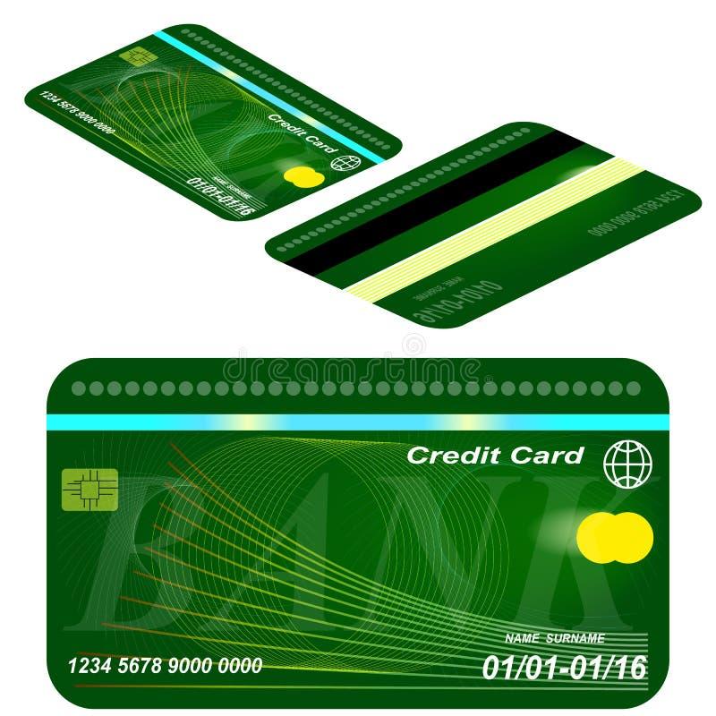 Karciany kredytowy szablon. ilustracja wektor