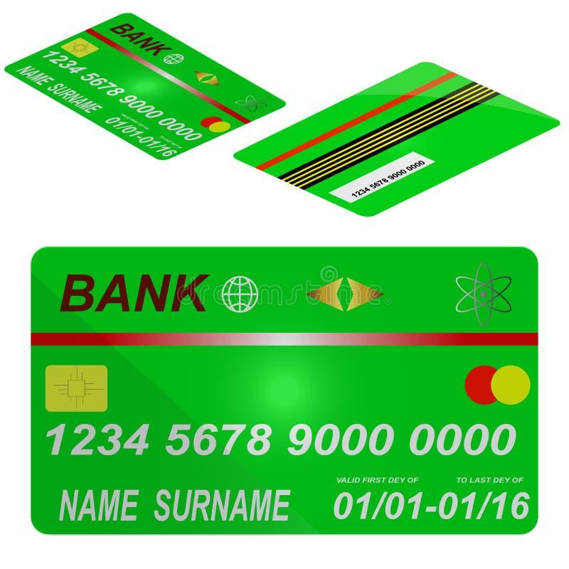 Karciany kredytowy szablon. ilustracji