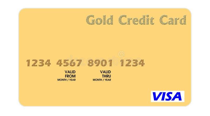 karciany kredytowy złoto royalty ilustracja
