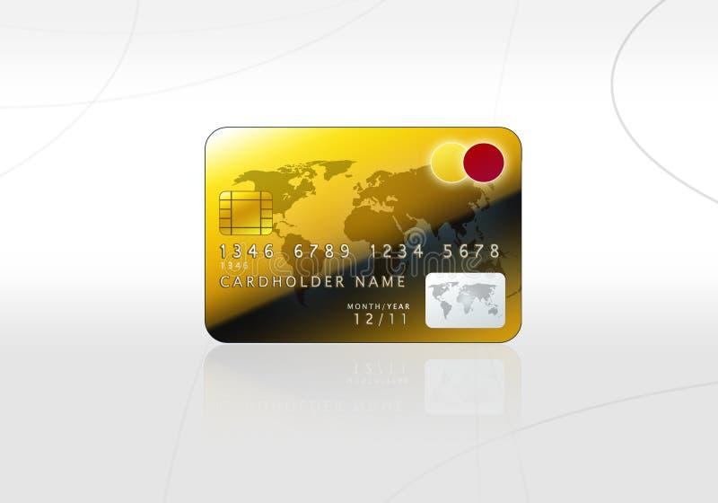 karciany kredytowy złoty ilustracji