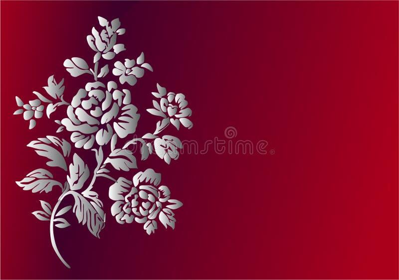karciany kwiat royalty ilustracja