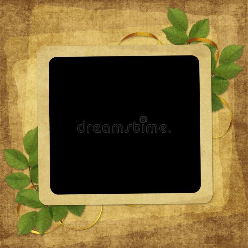 Download Karciany Kwiatu Wakacje Rocznik Ilustracji - Ilustracja złożonej z rama, trawy: 13329550