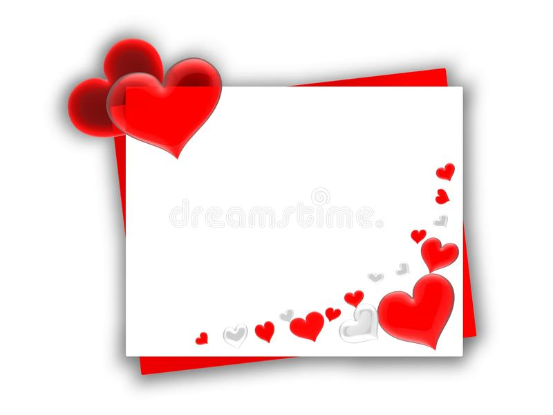 karciany mały valentine royalty ilustracja