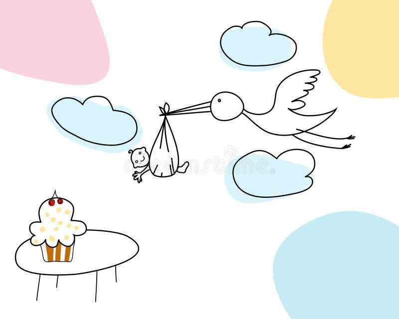 karciany niemowlak ilustracji
