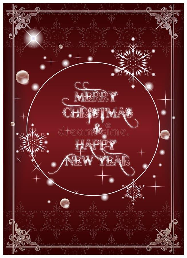 karciany nowy rok ilustracji