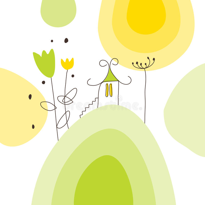 karciany powitanie ilustracja wektor