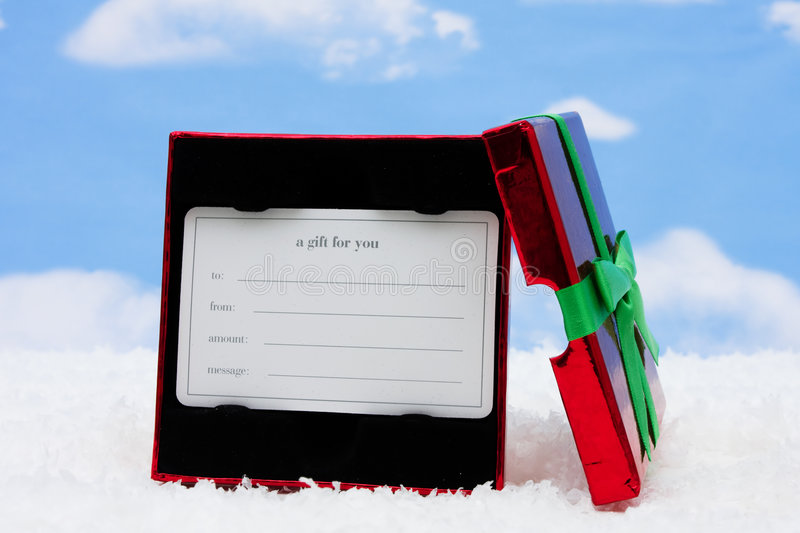 karciany prezent zdjęcie stock