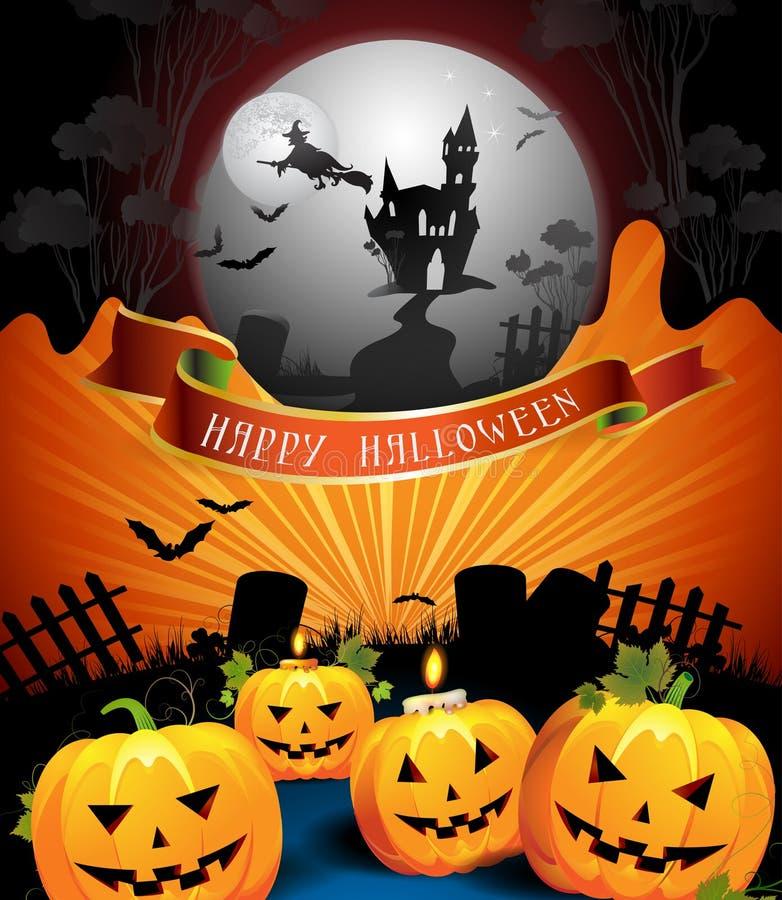 karciany projekt Halloween royalty ilustracja