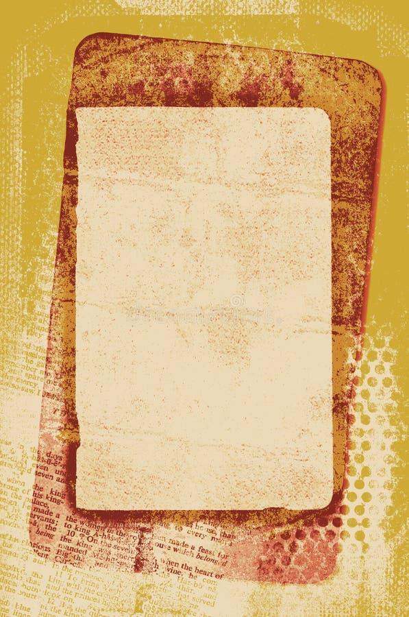 karciany rocznik royalty ilustracja