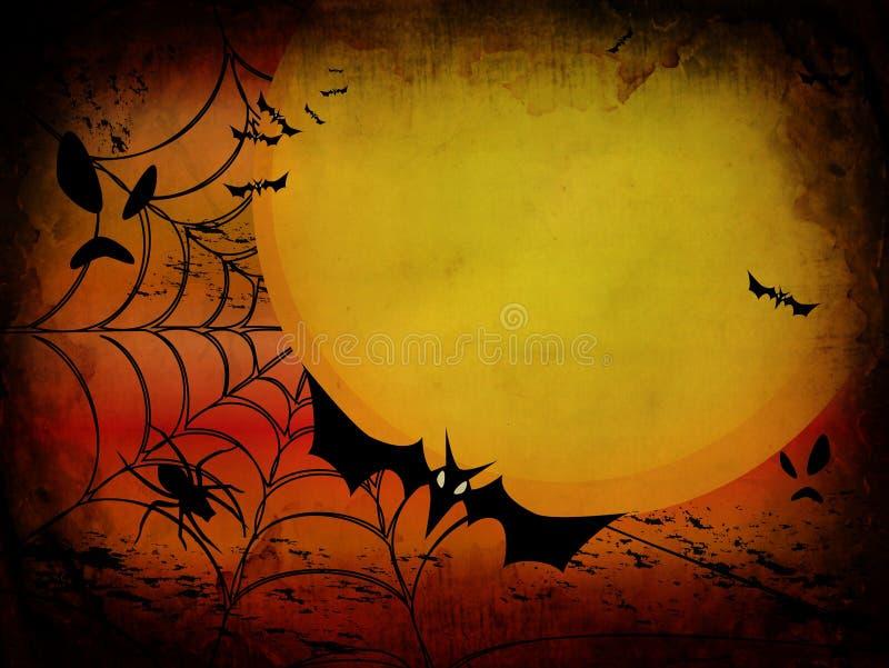 karciany tła grunge Halloween ilustracja wektor