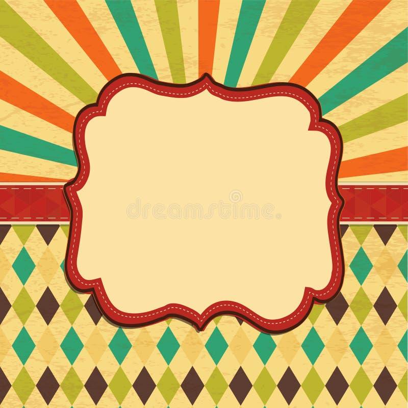 Karciany tło, granicy rama, sztandar ilustracji