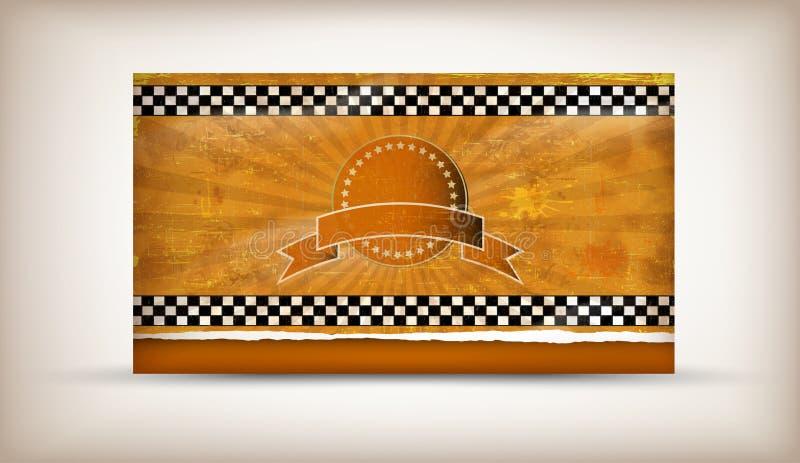 karciany taxi ilustracji