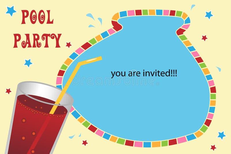karciany zaproszenia przyjęcia basen ilustracji