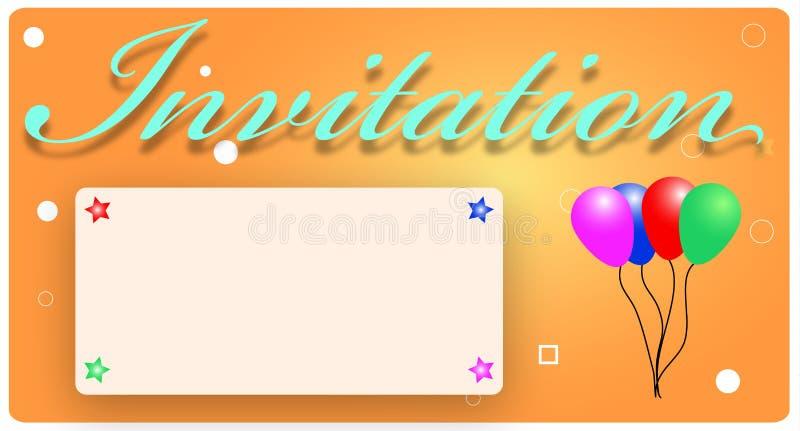Download Karciany zaproszenie ilustracja wektor. Obraz złożonej z balony - 16627008