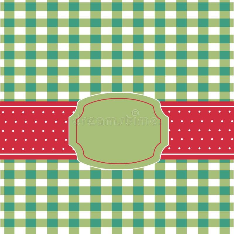 karciany zielony czerwony retro ilustracji