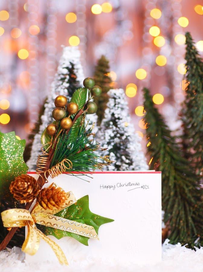 karcianych bożych narodzeń szczęśliwy wakacje zdjęcie royalty free