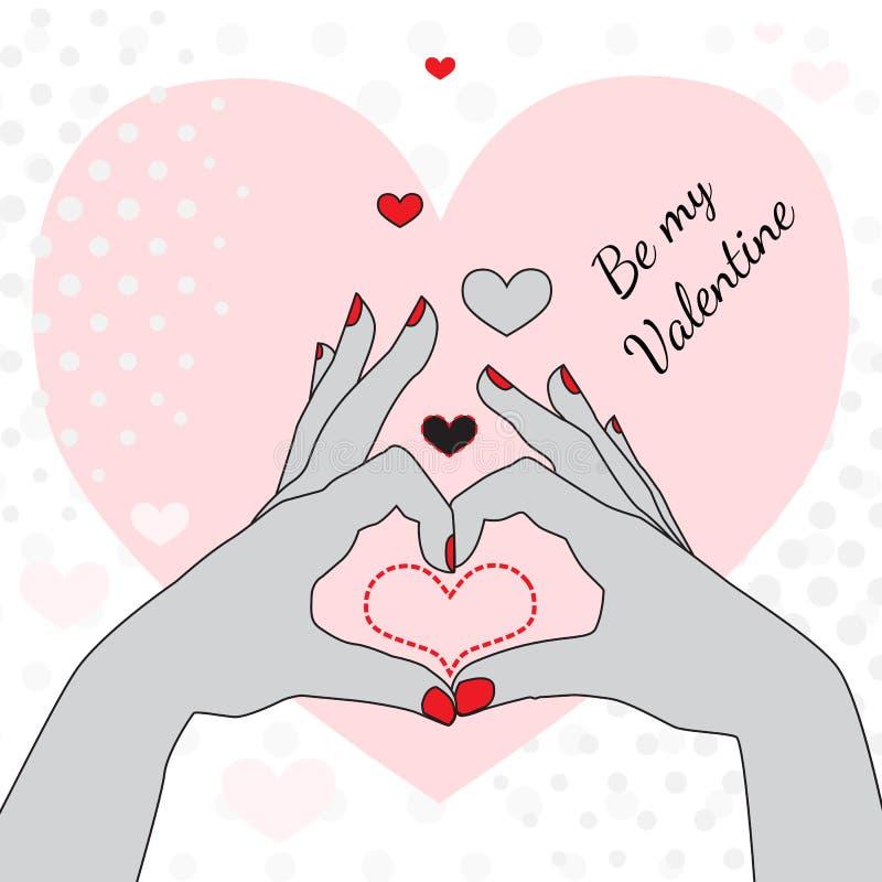 karcianym powitaniem jest mój valentine ilustracji