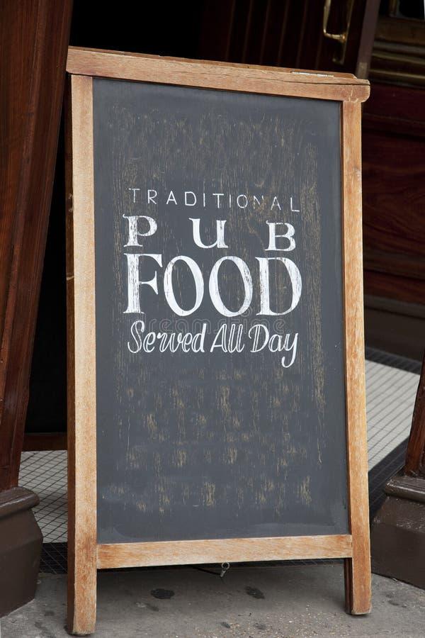Karczemny Karmowy menu zdjęcie stock