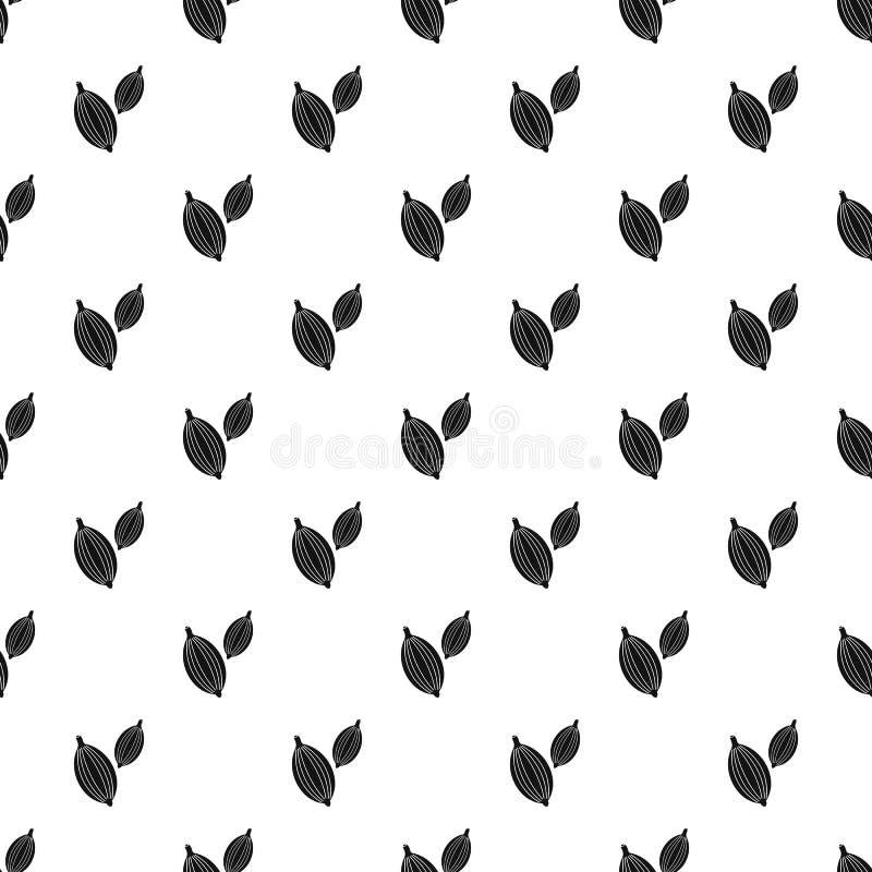 Kardamonów strąków deseniowy wektor ilustracji
