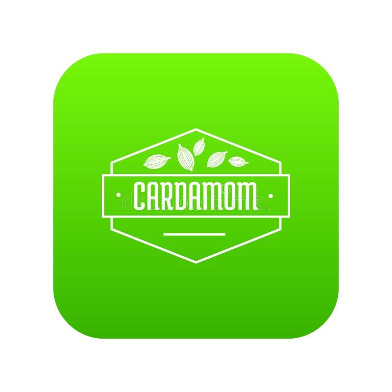 Kardamon ikony zieleni wektor royalty ilustracja