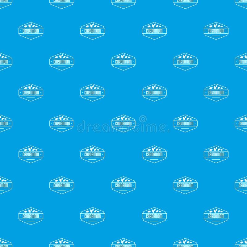 Kardamonu deseniowy wektorowy bezszwowy błękit ilustracji