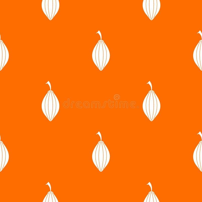 kardamonu strąka wzór bezszwowy ilustracja wektor
