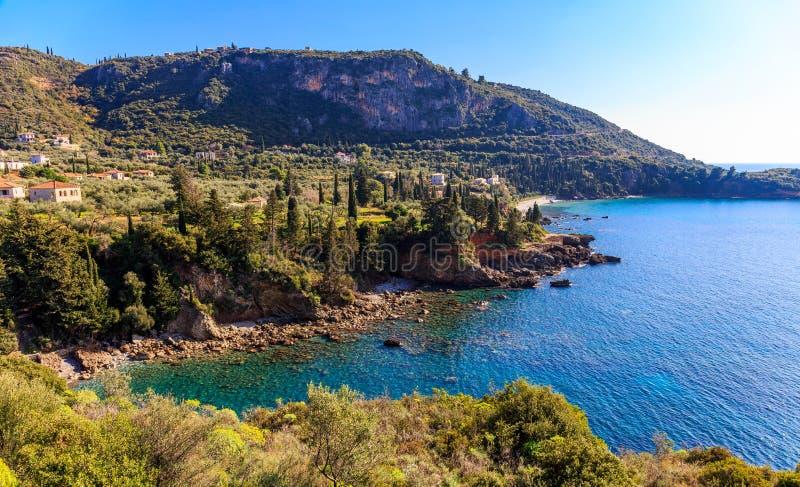 Kardamyli village in Messenia, Peloponnese royalty free stock images