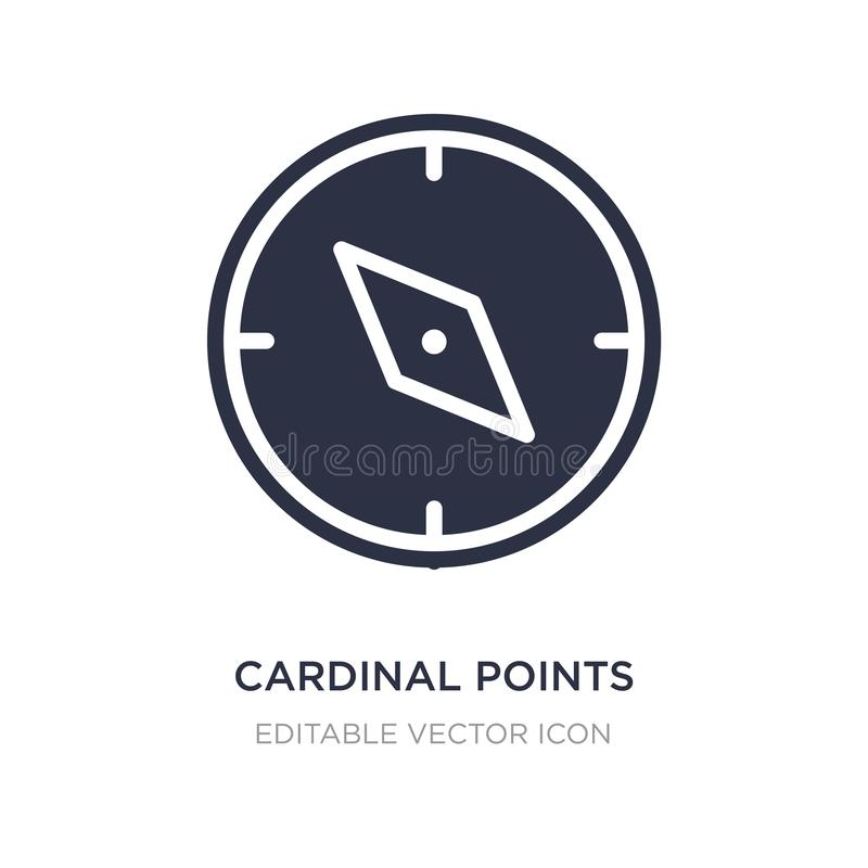 Kardinalpunktikone auf weißem Hintergrund Einfache Elementillustration vom Werkzeug- und Gerätkonzept vektor abbildung