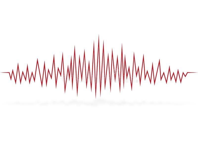 Kardiogram bicie serca puls fala ilustracji