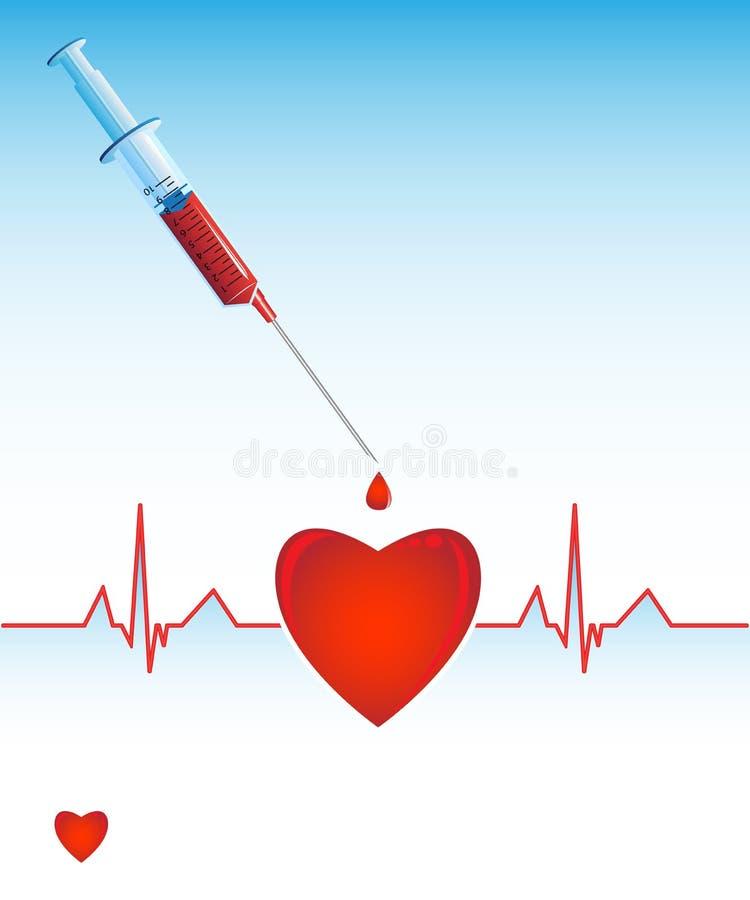 kardiograma serce ilustracja wektor