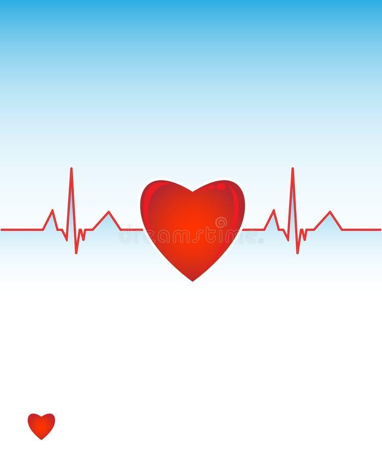 kardiograma serce ilustracji