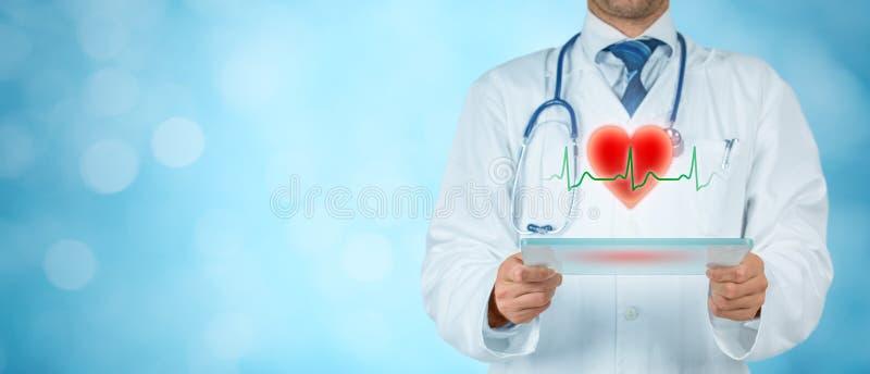 Kardiolog och sjukvårdbegrepp royaltyfri fotografi