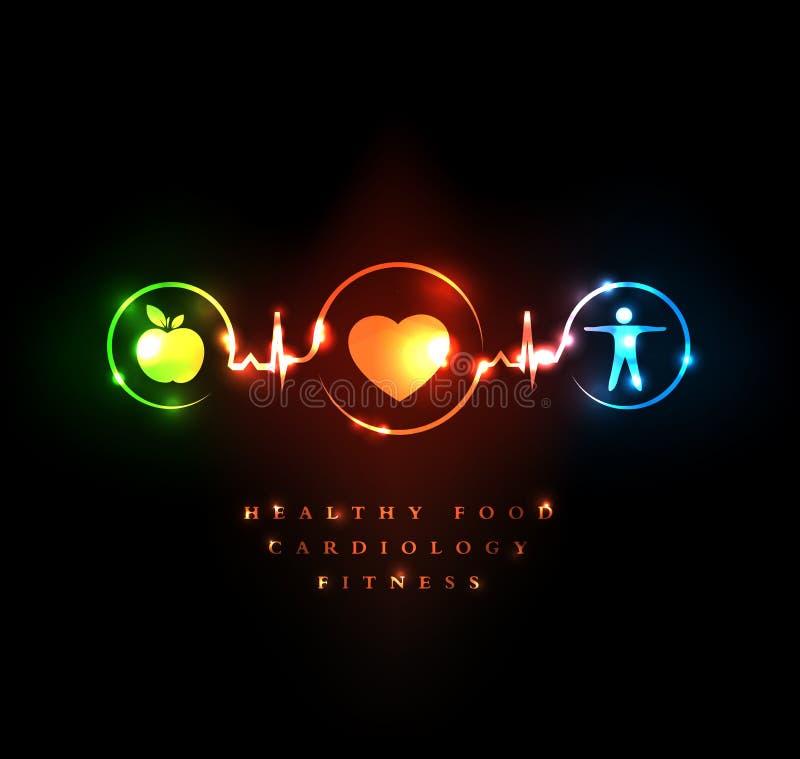 Kardiologia i wellness ilustracja wektor