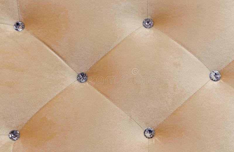 Kareciany coupler Panel beżowa tkanina z kryształami zdjęcie royalty free