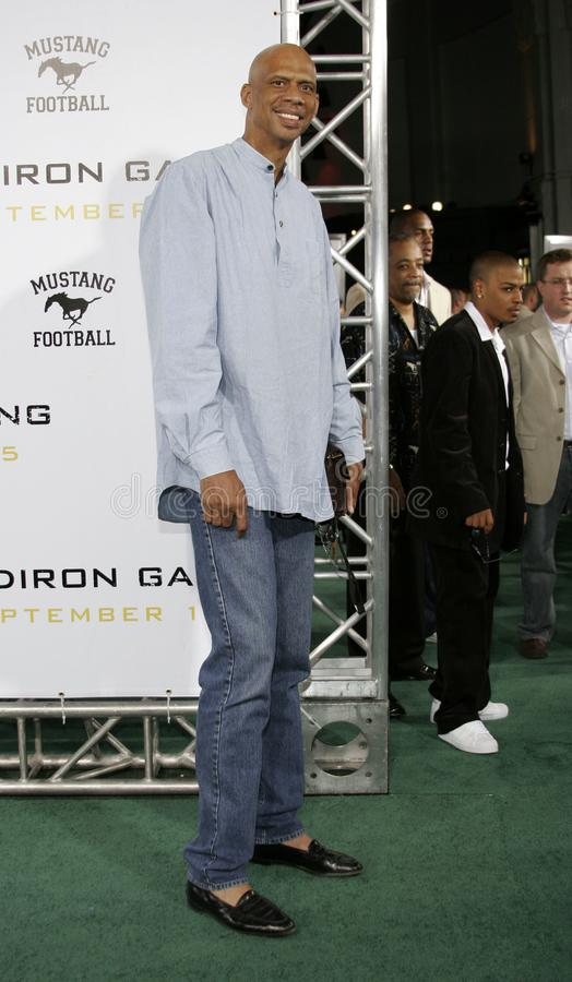 Kareem Abdul-Jabbar. At the Los Angeles premiere of `Gridiron Gang` held at the Grauman`s Chinese Theatre in Hollywood, California United States on September 5 royalty free stock photo