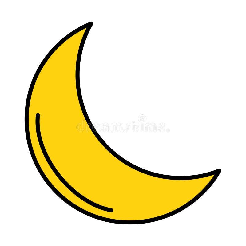 Kareem de oro del Ramad?n de la luna ilustración del vector